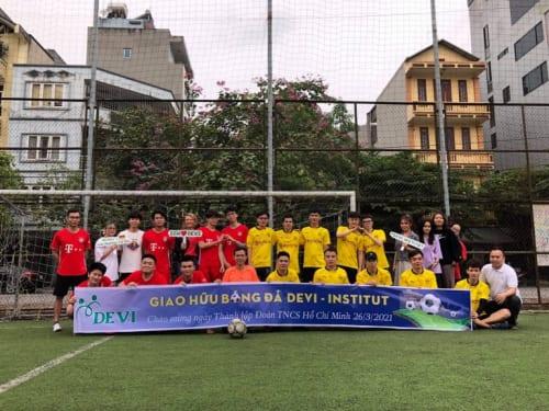 Giao hữu bóng đá chào mừng ngày thành lập Đoàn 26/3 DEVI INSTITUT