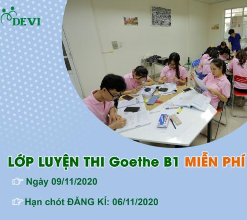 Lớp Ôn thi Goethe B1 MIỄN PHÍ tại DEVI- Tháng 11/2020