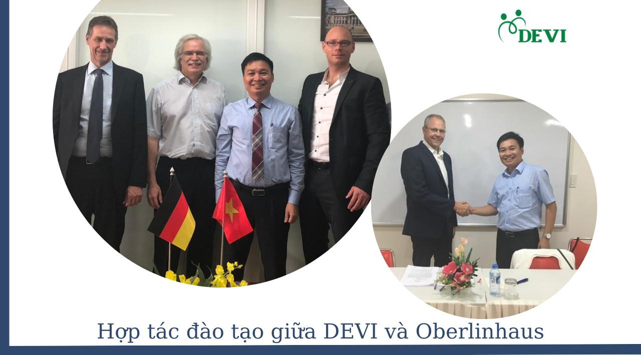 Lãnh đạo trường Oberlinhaus và doanh nghiệp Đức ký thỏa thuận hợp tác đào tạo với DEVI tại Việt Nam